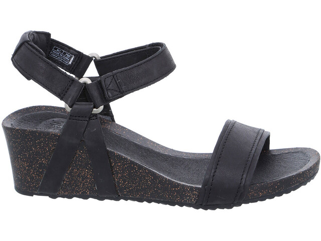 Teva Ysidro Stitch Wedge Sandals Women black
